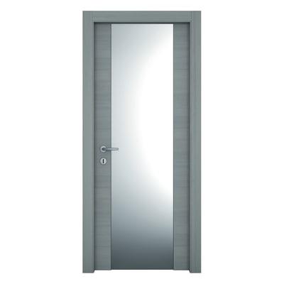 Porta da interno battente Resort Vetro Larice ghiaccio 80 x H 210 cm sx
