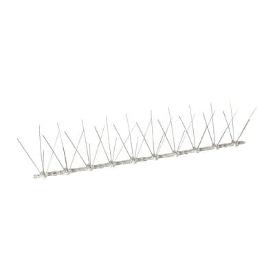 Dissuasore per volatili Onduline grigio in policarbonato e aghi in acciaio inossidabile 50 x 9 cm