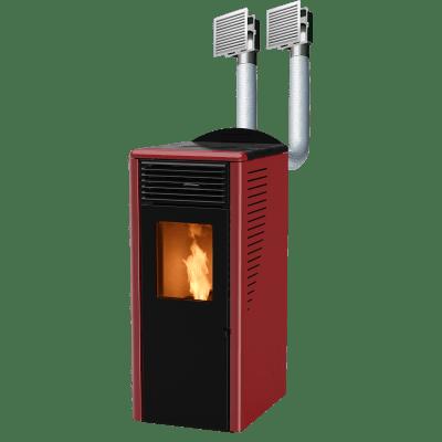 Stufa a Pellet Fusion 12.2C 11,8 kW bordeaux