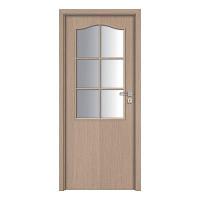 Porta da interno battente Cedar vetrata 80 x H 210 cm dx