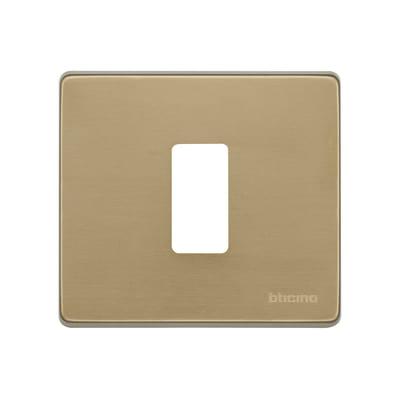 Placca 1 modulo BTicino Magic bronzo