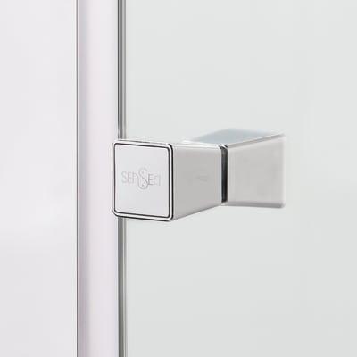 Box doccia scorrevole Dado 67.5-69 x 67,5-69, H 185 cm cristallo 5 mm trasparente/silver