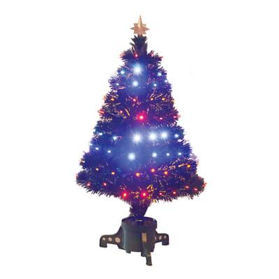 Albero di Natale artificiale Fibre ottiche e led H 60 cm
