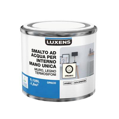 Smalto manounica Luxens all'acqua Bianco Crema 5 opaco 0.125 L