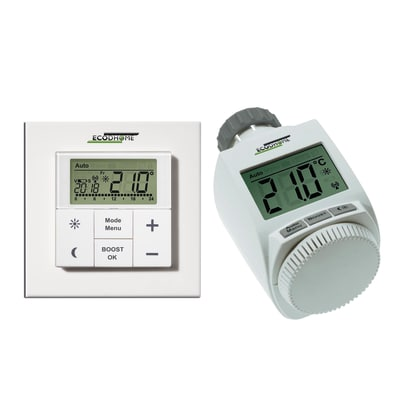 Termostato Kit testina termostatica TTD150 e termostato TTD2000 Wireless