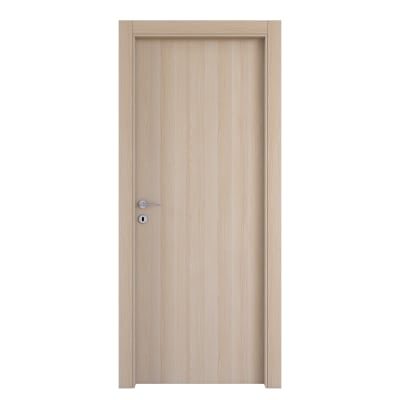 Porta da interno battente Young bianco oak 60 x H 210 cm reversibile