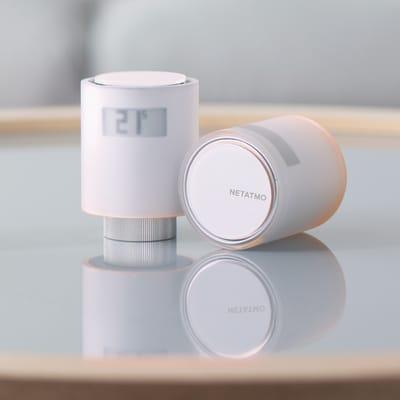 Kit per riscaldamento individuale termostato + 2 valvole intelligenti per termosifoni Netatmo by Starck® INK010