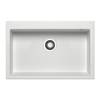 Lavello incasso Voyager bianco L 76 x P  50 cm 1 vasca