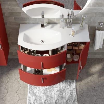 Mobile bagno Sting rosso L 104 cm