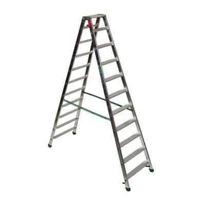 Scala doppia alluminio Facal 11 gradini, per lavori fino a 3,5 m