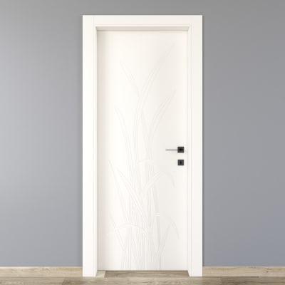 Porta da interno battente Blades white bianco 60 x H 210 cm sx