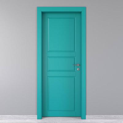 Porta da interno battente New York azzurro 90 x H 210 cm sx