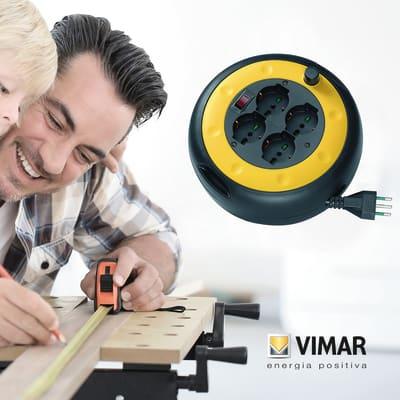 Avvolgicavo per uso domestico con cavo da 10 m Vimar