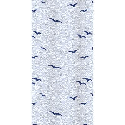Tenda doccia Shore blu L 120 x H 200 cm