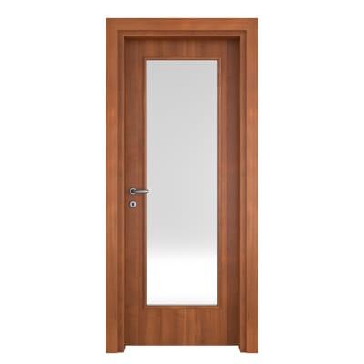Porta da interno battente Diamond noce biondo 70 x H 210 cm reversibile