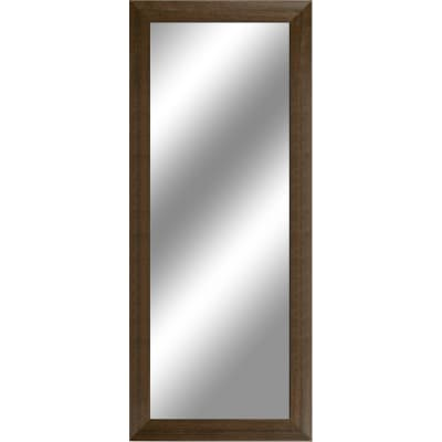 specchio da parete rettangolare wengè 55 x 140 cm