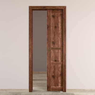 Porta da interno scorrevole Old Town noce sbiancato 60 x H 210 cm reversibile