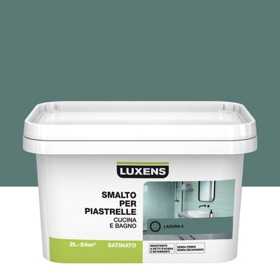 Smalto Per piastrelle Luxens Verde Laguna 5 satinato 2 L