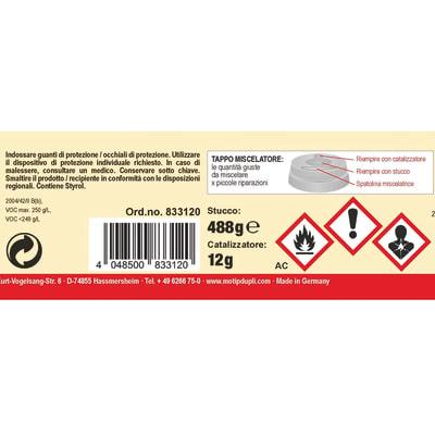 Stucco Poliestere Microfine Presto bianco 500 g