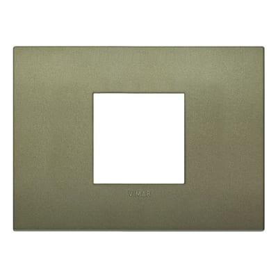 Placca 2 moduli Vimar 19652.77 Arké verde matt
