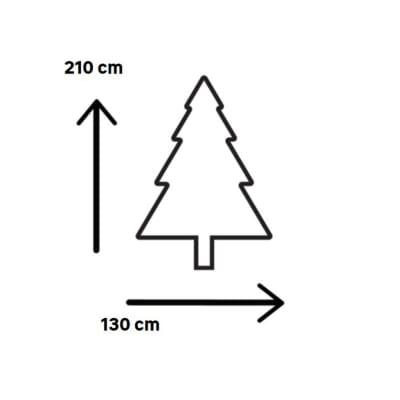 Albero di Natale artificiale Super Snow King H 210 cm