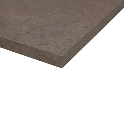 Piano cucina su misura laminato Porfido Sabbia marrone 4 cm