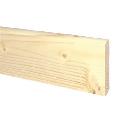 Battiscopa confezione da 10 pezzi massello grezzo naturale 10 x 70 x 2250 mm