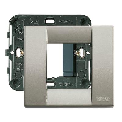 Placca 2 moduli Vimar Idea titanio