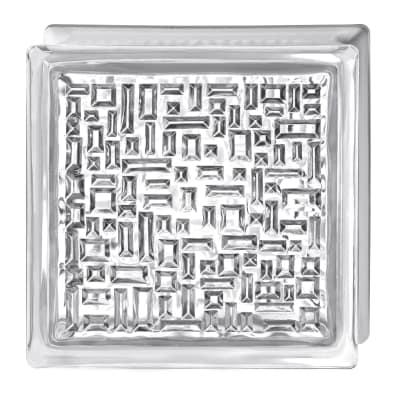 Vetromattone trasparente geometrico 19 x 19 x 8 cm