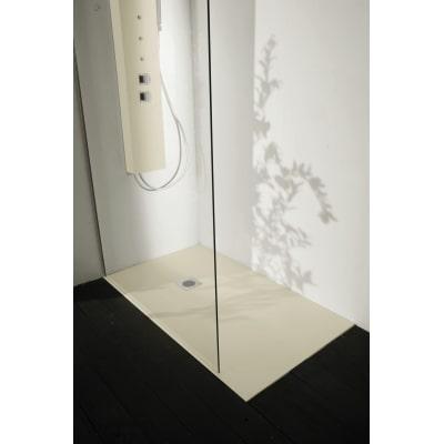 Piatto doccia resina Liso 110 x 100 cm grigio perla