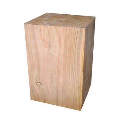 Tronco quadro legno l 30 x p 30 x h 45 cm grezzo prezzi e offerte online leroy merlin - Tavole legno grezzo leroy merlin ...
