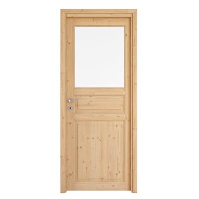 Porta da interno battente Beethoven vetro grezza 60 x H 210 cm reversibile