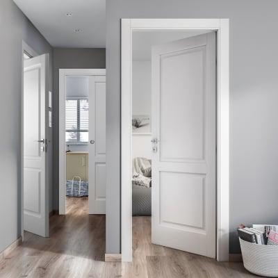 Porta da interno pieghevole asimmetrica Dubhe bianco 80 x H 210 cm dx