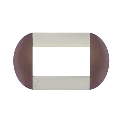 Placca 4 moduli BTicino Livinglight bronze