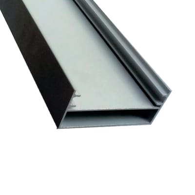 Profilo perimetrale ReadyBlock GlassCover alluminio 3 m, 8,4 x 3,5 cm