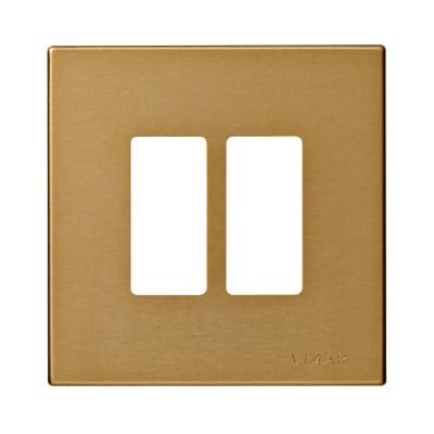 Placca 2 moduli Vimar serie 8000 bronzo