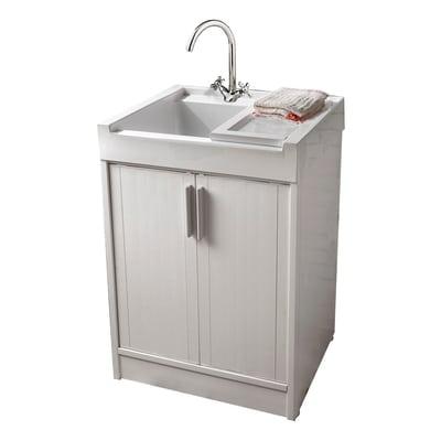 Mobile lavatoio Up bianco L 59,2 x P  52,5 x H 84 cm