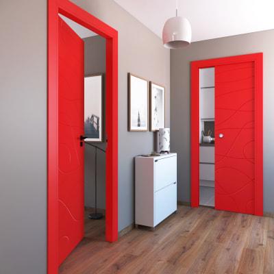 Porta da interno battente Wind red rosso 60 x H 210 cm sx