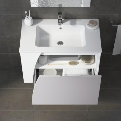 Mobile bagno Soft tortora L 80,5 cm