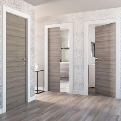 Porta da interno scorrevole One grigio/bianco 70 x H 210 cm reversibile