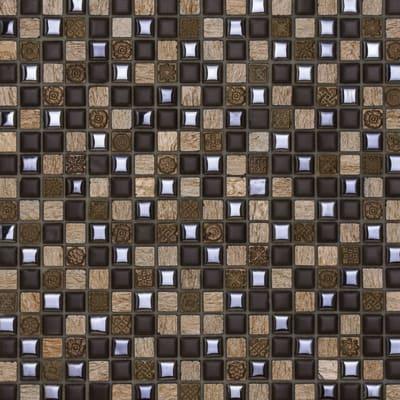 Mosaico Ardesia 30 x 30 cm marrone