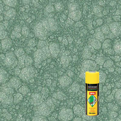 Smalto per ferro antiruggine spray Saratoga Fernovus verde martellato 0,4 L