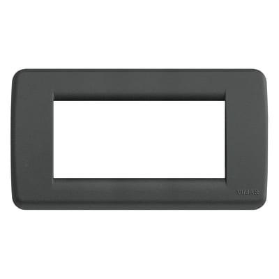 Placca 4 moduli Vimar Idea nero