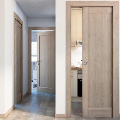 Porta da interno battente Etamin paglia 60 x H 210 cm dx