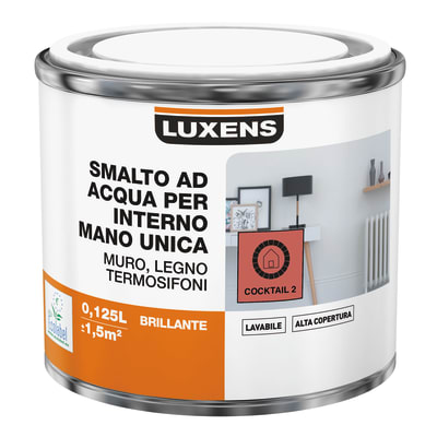 Smalto manounica Luxens all'acqua Arancio Cocktail 2 satinato 0.125 L
