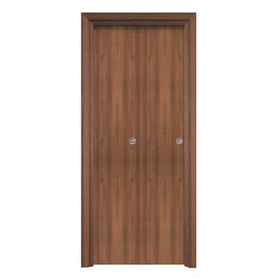 Porta da interno pieghevole Auda noce 80 x H 210 cm reversibile