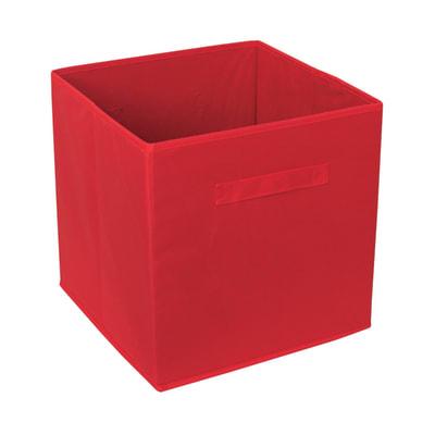 Cesta L 31 x P 31 x H 31 cm rosso