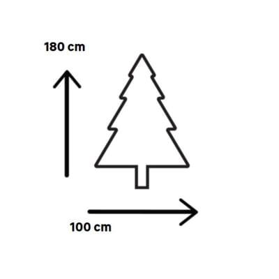 Albero di Natale artificiale bianco opaco H 180 cm
