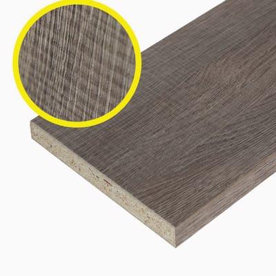 Pannello melaminico rovere medio 18 x 400 x 600 mm