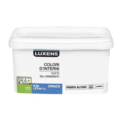 Idropittura lavabile Mano unica Argento - 2,5 L Luxens